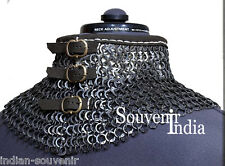 MEDIEVAL ARMOUR CHAINMAIL COLLER 9MM FLAT RIVETED WITH WASHER
