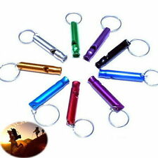 Excellent 10 PCS Aluminum Emergency Survival Whistle Keychain For Camping Hiking