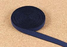 """5 Yards 3/8"""" Navy Blue Picot Elastic Plush Back Finishing Elastic Bra Making"""