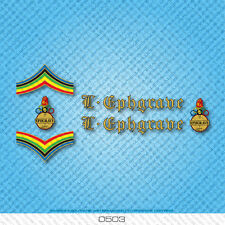 Ephgrave Bicycle Decals - Transfers - Stickers - Gold & Black Text - Set 0503