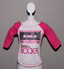 Barbie Doll Clothes Fashionista Life in the Dreamhouse Rockers Raglan Top Shirt