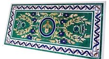 4.5'x2' Marble Dining Coffee Table Top Malachite Mosaic Inlay Home Decor H1607