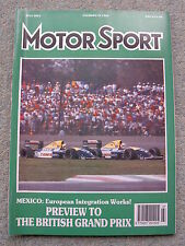 Motor Sport (July 1991) British GP, Porsche 944, Vauxhall Carlton, Mercedes C291