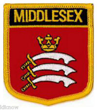 """Middlesex County (Shield) Embroidered Patch 6CM X 7CM (2 1/2"""" X 2 3/4"""")"""
