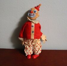 "Antique Vintage CLOWN Doll 10.5"" Tall - Free S&H"