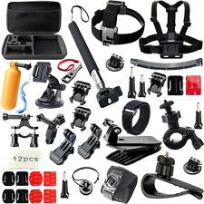 Accessories Set Chest Head Mount Strap Monopod for Go pro hero3 Hero 4 3+ 3 2 1