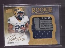 2011 Exquisite Dion Lewis On Card Gold Auto Laundry Tag Jrsy Rc Serial # to 135