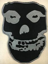 Misfits Crimson Ghost Embroidered Woven Back Patch NEW Gray & Black Punk Rock