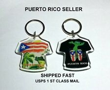 Puerto Rico Flag Keychain T Shirt Conga Drums Vacation Souvenir Gift Travel 2a