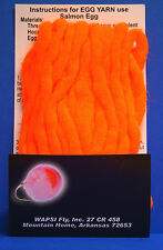 Egg Yarn Ei-Fliegen Egg Sucking Leech Wapsi USA Egg Fluo Orange