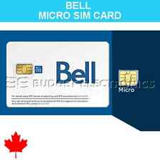 Bell Mobility Micro SIM Card for iPhone Samsung BlackBerry Prepaid Canada Travel