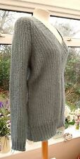 R BLUE KNITTED MOHAIR & WOOL MIX JUMPER SNUG & WARM SIZE 18 / 20 GREAT CONDITION