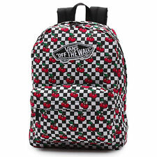 Vans Off The Wall Realm Backpack Cherry Checker Backpack Travel Bag NWT Girls