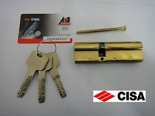 CISA ASTRAL ANTI-SNAP EURO DOUBLE CYLINDER WITH REGISTRATION CARD 45/50 - BRASS