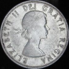 1956 VF++ Canada Silver 50 Cents (Fifty, Half) - KM# 53 - Free Shipping - JG