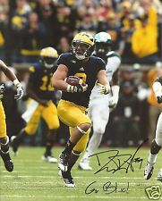 DREW DILEO MICHIGAN WOLVERINES SIGNED 8X10 PHOTO W/COA