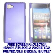 Pellicola+custodia BACK COVER VIOLA rigida per LG Optimus 4X HD P880