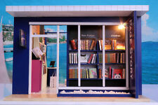 DOLLHOUSE MINIATURE DIY KIT, (T-01), PAGE BOOK STORE,  W/LIGHTS, COVER
