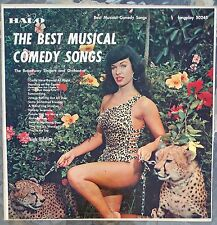 BETTIE PAGE awesome cover exploitation LP~Betty sexy cheesecake leopard swimsuit