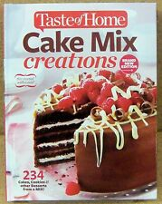 Taste of Home Cake Mix Creations NEW Hardcover 234 Cake Cookies Desserts Recipes