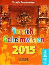 Vorsicht Geheimwissen 2015 – Abreißkalender, ovp rar, Kalender Schatzkiste Ideen