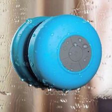 Blue HIFI Waterproof Wireless Bluetooth Handsfree Mic Suction Speaker Shower Car