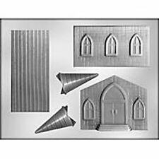 Church CHOCOLATE Designer Candy MOLD Building Jesus Religion