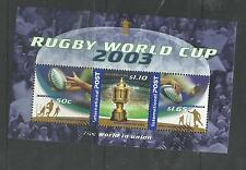 2003  RUGBY WORLD CUP  INTERNATIONAL POST  MINI SHEET  VERY FINE USED