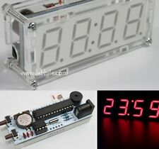 "E110 DIY 1"" Big Display 4 Digit LED Electronic Digital Alarm Clock Kit with Case"