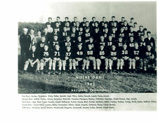 1943 NOTRE DAME  NATIONAL CHAMPS 8X10 TEAM PHOTO  FOOTBALL NCAA ROCKNE