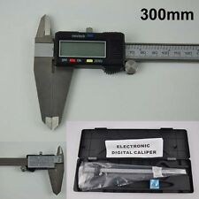"12"" Inch 300mm Digital Vernier Caliper Micrometer Large LCD Display w/ Battery"