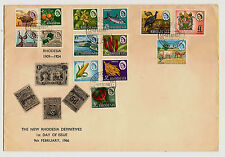 RHODESIA - 1966 NEW DEFINITIVES 14V SET FIRST DAY COVER