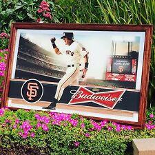 "Budweiser San Francisco Giants MLB Major League Baseball Beer Bar Mirror New"""