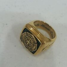 Men's VTG Vermeil Gold 0.925 Sterling Silver FIREMANS RING SZ 8