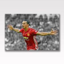 ZLATAN IBRAHIMOVIC CANVAS Manchester United Poster Wall Art 30x20 CANVAS