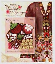 Malaysia 2013 The Baba & Nyonya Heritage ~ MS Mint
