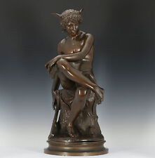 Séduisant HERMES sculpture en bronze 1867 pierre montagne MERCURE FRENCH HERMES