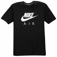 NIKE Glow In the Dark Air Logo T-Shirt sz 2XL XX-Large Black Premium Max Roshe