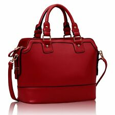 Ladies Designer Leather Style Handbag New Tote Celebrity Shoulder Bag