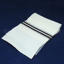 Ready to Sew On Tailored Waistband for Trousers, 5 yard Ivory with Rubber Stripe