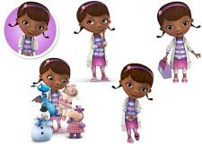JOBLOT OF 5 DOC MCSTUFFINS MINNIE/SMALL IRON ON T SHIRT TRANSFERS WHITE FABRICS
