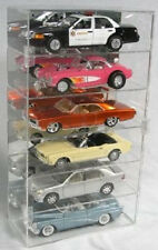 1:18 Acrylic Diecast Cars Display Case Holds 6 Vertical Made in the USA