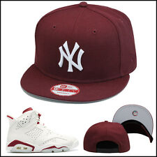 New Era New York Yankees Snapback Hat All Maroon/White jordan retro 6 VI 9fifty