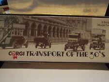 CORGI TRANSPORT OF THE 30'S - 3 FORD MODEL T VANS - SCARCE