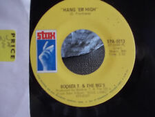 45 STAX RECORDS BOOKER T & THE MG'S HANG EM HIGH / OVER EASY