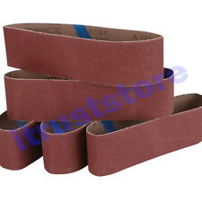 5PC 3 x 18 INCH WOOD SANDING SANDPAPER CLOTH BELT SANDER ALUMINUM OXIDE 80 GRIT