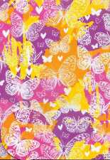 Psychedelic Butterflies 2 sheets of  gift wrap & 2 gift tags Wrapping Paper