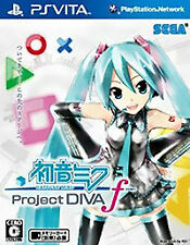 Project Diva F *PS Vita* PSV Sony Japan import Region Free! Hatsune Miku