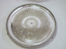 WHITE STAR LINE SILVER PLATED SALVER / TRAY ELKINGTON AND CO 1880