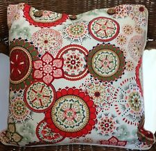 Cushion Cover Wildflower Red Decorator Scatter Throw - Chair Sofa Couch Daybed